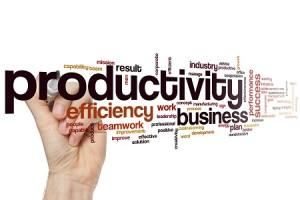 Productivity word cloud concept